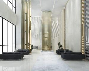 Reformas León Diseño 3D Reforma hall hotel de gran lujo y restaurante