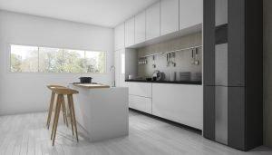 Reformas Vitoria cocina blanca minimalista y moderna