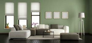 Reformas Humedades Green modern living room