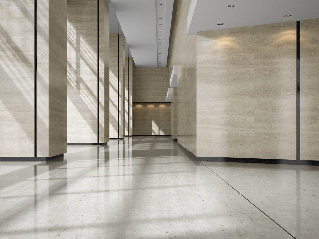 Reformas Ávila Diseño 3D recepción de hall hotel reforma integral