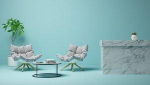 Proyectos Reformas viviendas Interior of modern living room 3D rendering