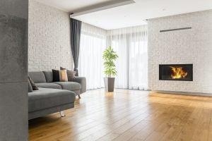 Reformas Pisos Sala de estar con piso de madera